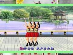 山上之光广场舞《江西姑娘》原创单人水兵舞 异地合屏 正背面演示