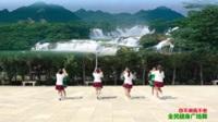 陕西华阴罗敷台头村小星星舞蹈队广场舞 你不来我不老 表演 团队版