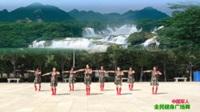 陕西华阴罗敷鸿运蓝精灵舞蹈队广场舞 中国军人 表演 团队版