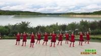 陕西华阴黄河新星舞蹈队广场舞 草原的夏天 表演 团队版