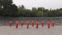 郑州阳光文艺团一队广场舞《青梅竹马》原创舞蹈 正背面表演 团队版