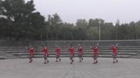 微微广场舞蹈队广场舞《溜溜的山寨溜溜的醉》原创舞蹈 团队正背面演示