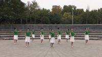 凤舞菩提牡丹队广场舞《云端天堂》原创舞蹈 正背面表演 团队版