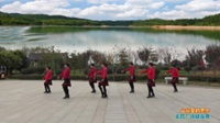 陕西华阴红花舞蹈队广场舞 【山谷里的思念】 表演 团队版