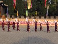 梁山秀舞队广场舞《旗袍美人》原创舞蹈 表演 团队版