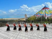 舞韵郎川广场舞  卓玛的未来 正背表演 团队版