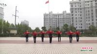 武汉黄陂横店快乐舞蹈队广场舞《暖暖的幸福》表演 团队版