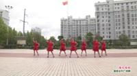 武汉黄陂横店建华村舞蹈队广场舞《张灯结彩》表演 团队版