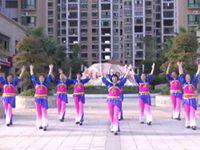 茅塘开心舞队广场舞《站在草原望北京》原创舞蹈 表演 团队版