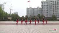 武汉黄陂横店橘子舞蹈队广场舞《红马鞍》表演 团队版