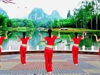 叶梦广场舞《跟我一起飞》原创健身舞 正背面演示