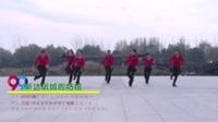 河南平顶山湛河区夕阳广场舞队  新达坂城的姑娘 表演 团队版