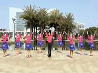 广西廖弟原创健身舞情到花开正背表演与动作分解团队版