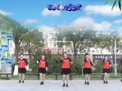 茉莉天津红梅广场舞《送你一首吉祥的歌》编舞沚水 团队正背面口令教学演示