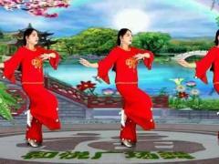 滨海新区汉沽和悦广场舞《小河淌水》编舞饶子龙 正面教学演示