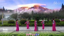 朱朱广场舞《自由行走的花》编舞応子 团队演示