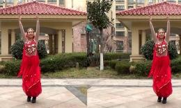 阿梅广场舞《情之吻》原创舞蹈 正背面演示
