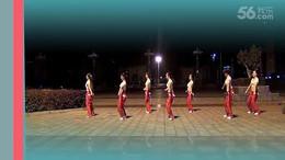 临川玲珑雨韵舞队《我的女孩》原创舞蹈 团队正背面演示