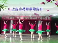 刘荣广场舞《山花朵朵开》原创舞蹈 附正背面口令分解教学演示