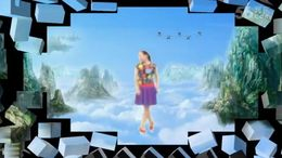嫣紫广场舞《云在飞》原创舞蹈 正背面演示
