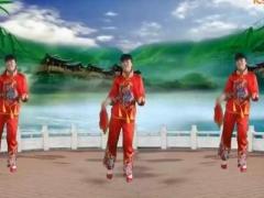 太湖一莲广场舞《开门红》原创秧歌舞 附正背面口令分解教学演示