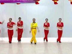 舞动旋律2007健身队《祝福你》原创舞蹈 团队正背面演示