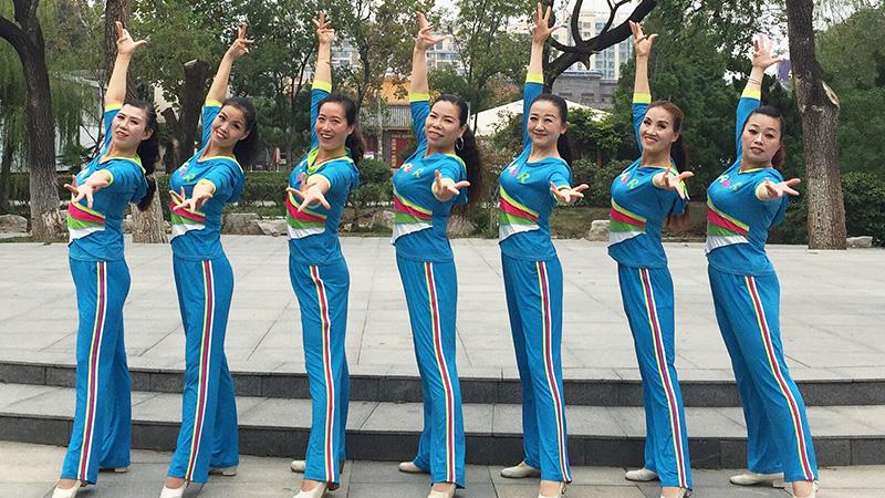 刘荣广场舞《快乐健身动起来》原创舞蹈 附正背面口令分解教学演示