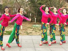 刘荣广场舞《红火中国年》原创舞蹈 附正背面口令分解教学演示