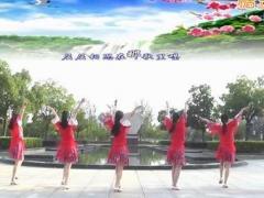动动广场舞《水月亮》原创傣族风味广场舞 附正背面口令分解教学演示