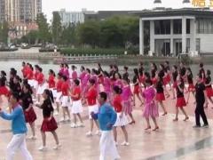 青儿广场舞《中国梦》原创大型集体舞 附正背面口令分解教学演示