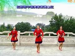 漓江飞舞广场舞《红红中国红》原创