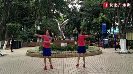 醉恋海鸥广场舞《蓝色雨》原创舞蹈 正背面口令分解动作教学演示