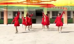 欢乐荣荣广场舞《张灯结彩》原创舞蹈 团队演示