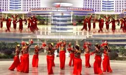 惠子鹿苑广场舞《自由行走的花》排练演出视频