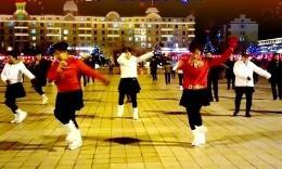 珲春金达莱广场舞《张灯结彩》编舞刘荣