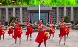 阿梅广场舞《红红的中国年》编舞刘荣 团队演示