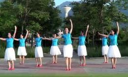 小丫广场舞《草原醉》原创舞蹈 团队正面演示