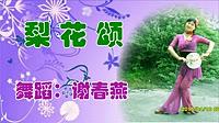 谢春燕广场舞《梨花颂》原创团扇戏曲古典舞 正背面教学演示