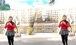 琴韵姊妹花广场舞《习大大爱着彭麻麻》编舞青儿 正背面演示