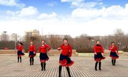 云裳馨悦广场舞《唐古拉风》原创舞蹈 排练视频