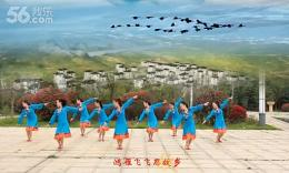 江西鄱阳春英广场舞《鸿雁飞飞》原创舞蹈 团队正面演示