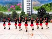 快乐风广场舞《前世今生的缘》原创10人变队形 团队正背面演示