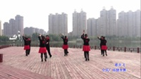 蒙城水兵舞健身队广场舞《歌在飞》原创舞蹈 表演 团队版