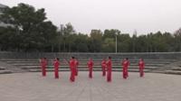 高老太君舞蹈队广场舞《又见山里红》原创舞蹈表演 团队版