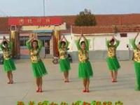 海阳大辛家健身队《情歌唱到九十九》编舞雪洁 团队正背面演示