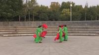快乐组合团队广场舞《爱我中华》原创舞蹈 表演 团队版