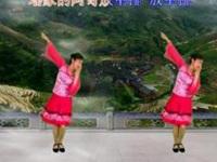 新丽莉广场舞《瑶族情歌》原创舞蹈 正背面演示