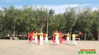 陕西华阴罗敷花样姐妹舞蹈队广场舞 【红红火火大中华】 表演 团队版
