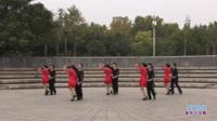 郑州馨馨舞蹈队广场舞《雪山姑娘》原创舞蹈 团队正背面演示