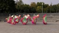 玫瑰广场舞《阳光路上》原创舞蹈 表演 团队版